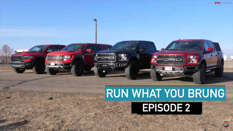 Ram 1500 TRX vs Ford Raptor drag race