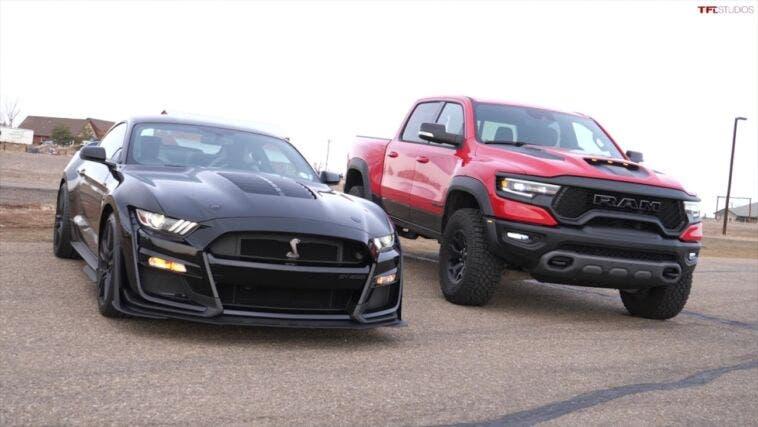Ram 1500 TRX vs Shelby GT500 drag race