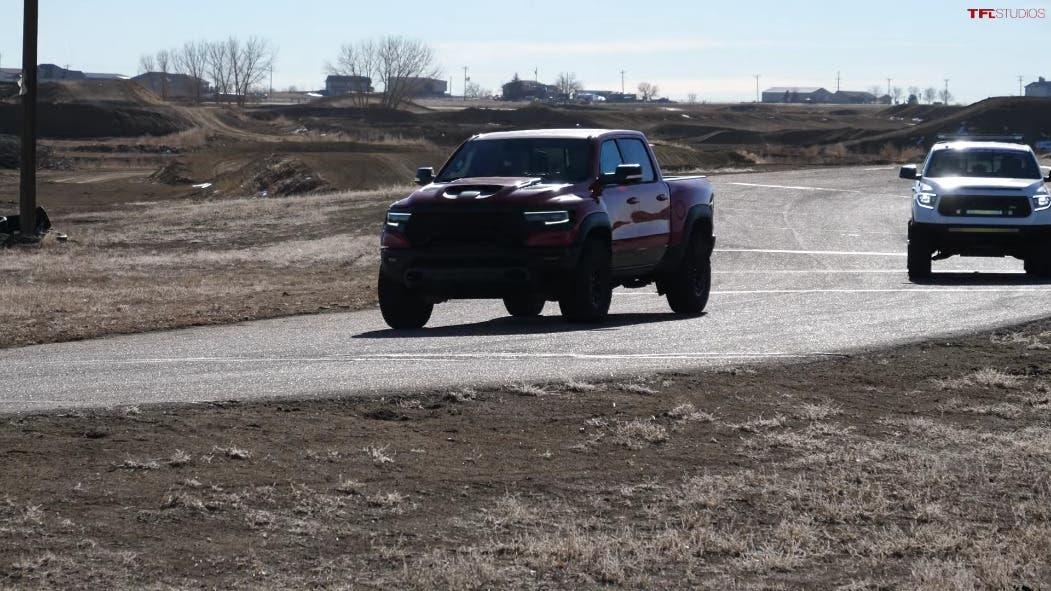 Ram 1500 TRX vs Toyota Tundra drag race