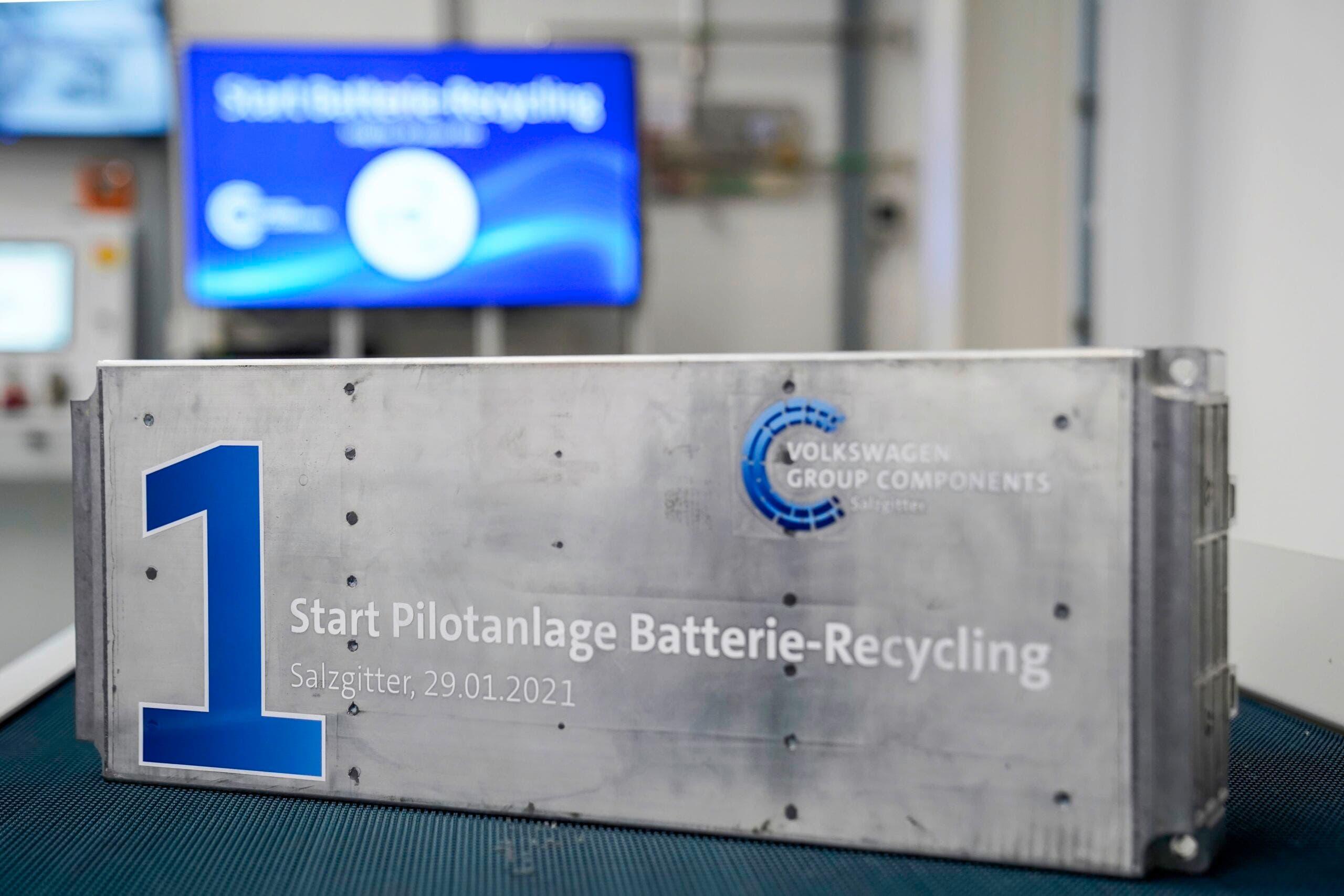 Volkswagen riciclo batterie auto elettriche