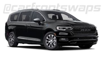 Chrysler Pacifica frontale Ram 1500