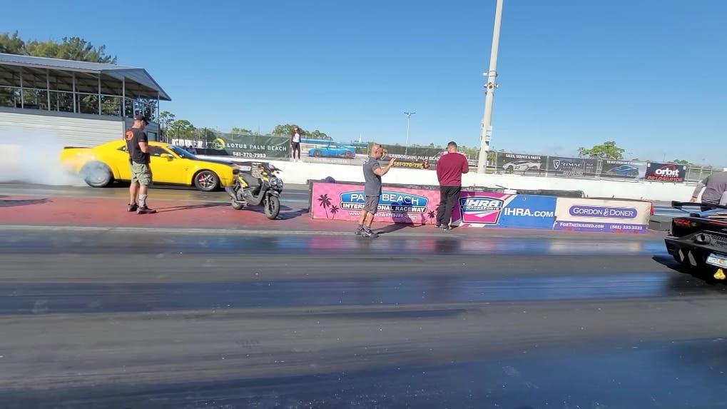 Dodge Challenger SRT Demon vs Lamborghini Aventador SVJ drag race