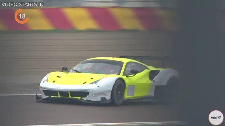 Ferrari 488 GTE pista bagnata