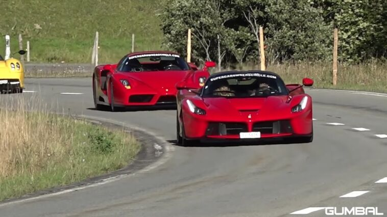 Ferrari Enzo vs LaFerrari drag race