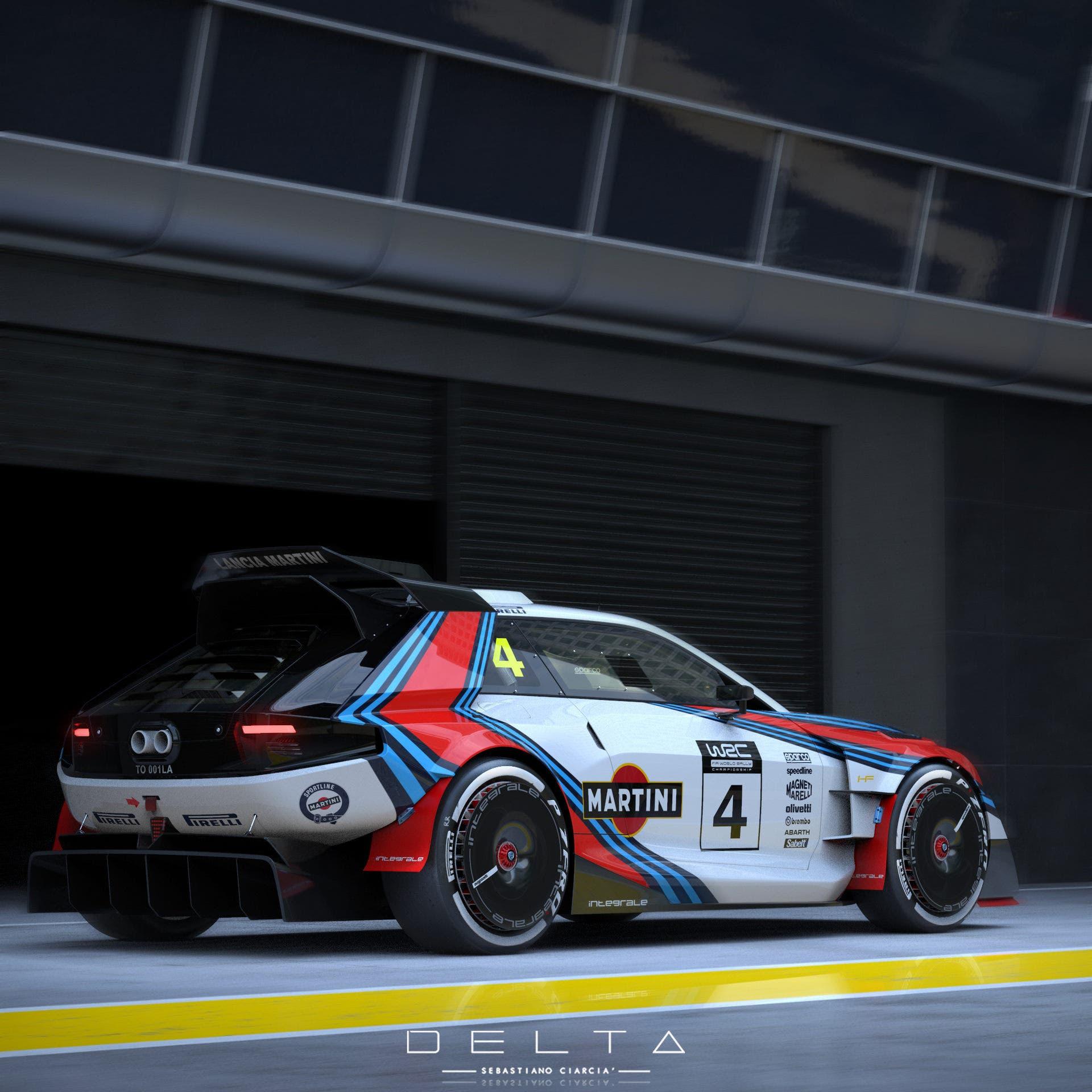 Lancia Delta HF Integrale Martini moderna