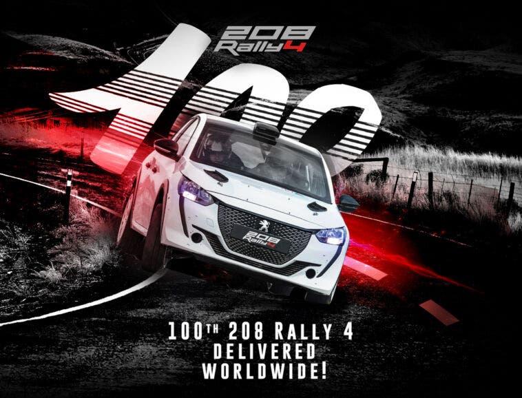 Peugeot 208 Rally4 100° esemplare