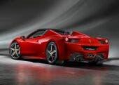 Ferrari 458 Spider dietro