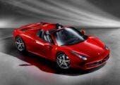 Ferrari 458 Spider dall'alto