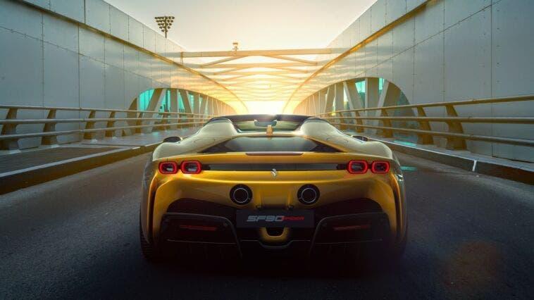 Ferrari SF90 Spider: il posteriore