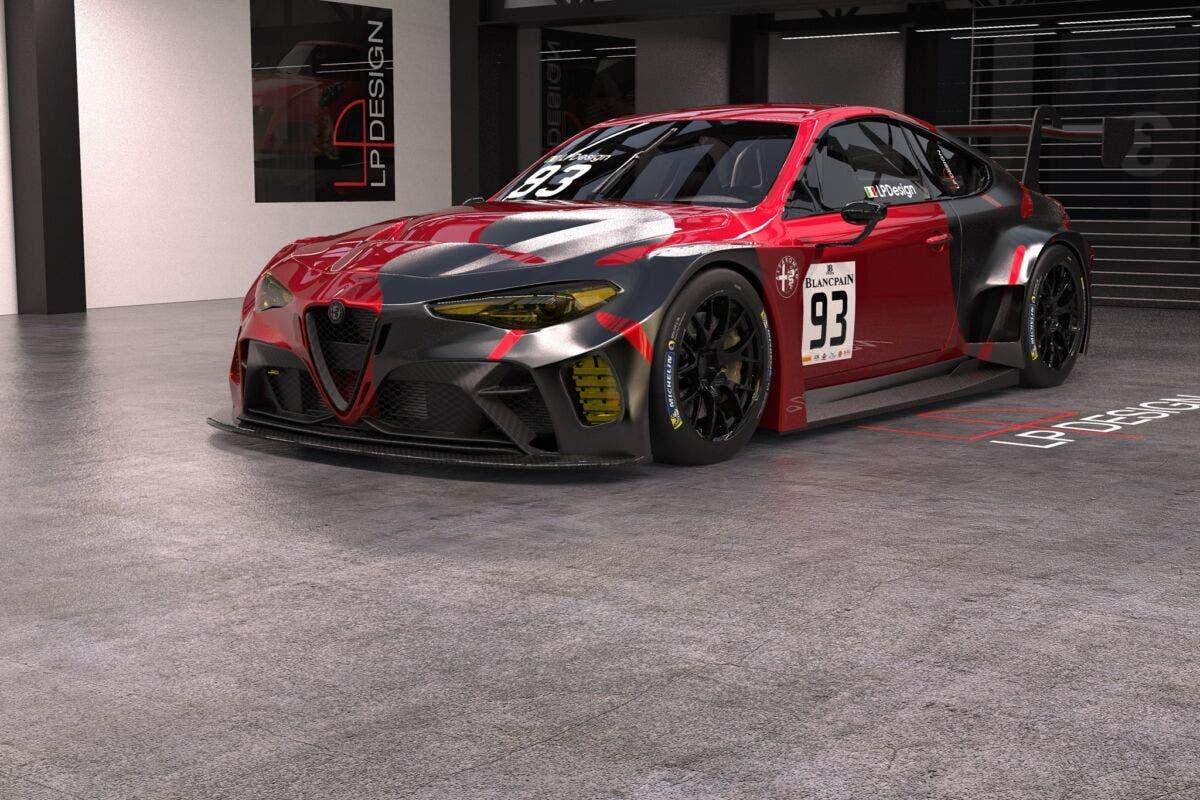 Alfa Romeo Giulia GTAm GT3 render