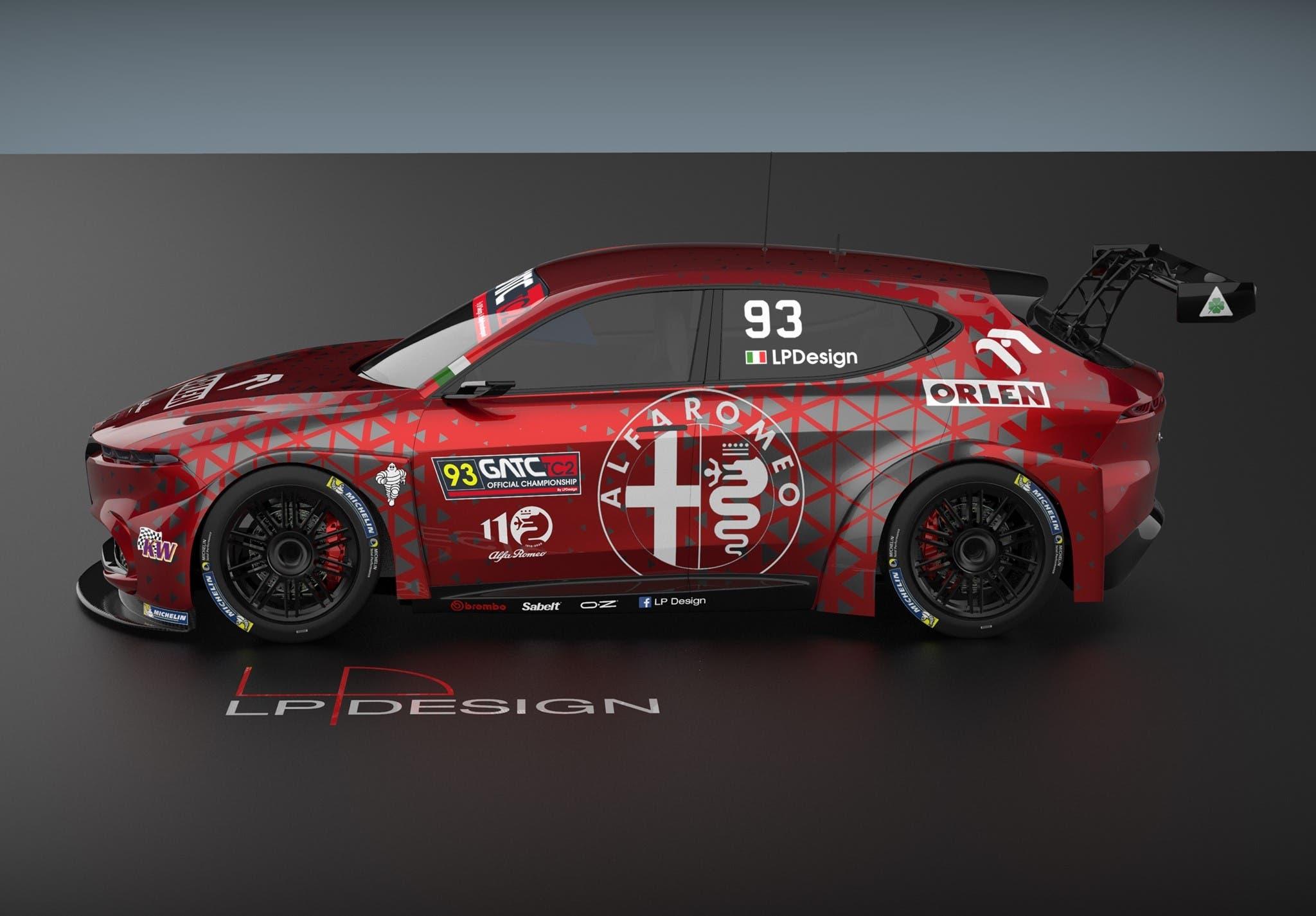 Alfa Romeo Tonale da competizione render