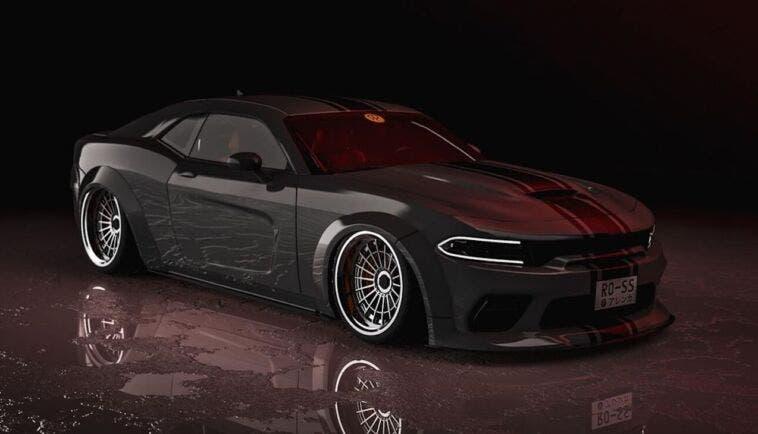 Dodge Charger SRT Hellcat coupé render