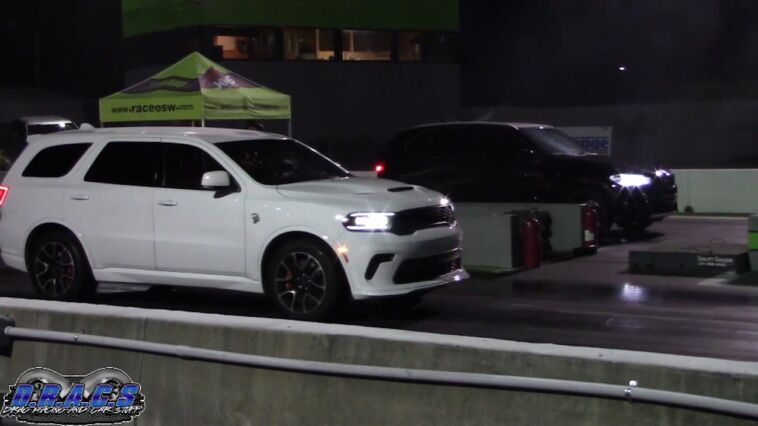 Dodge Durango SRT Hellcat drag race