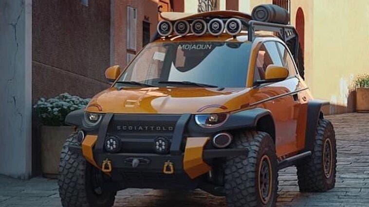 Fiat 500 fuoristrada render