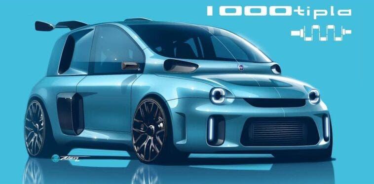 Fiat Multipla 1000 CV render