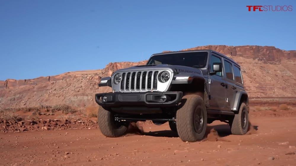 Jeep Wrangler Rubicon 392 test off-road