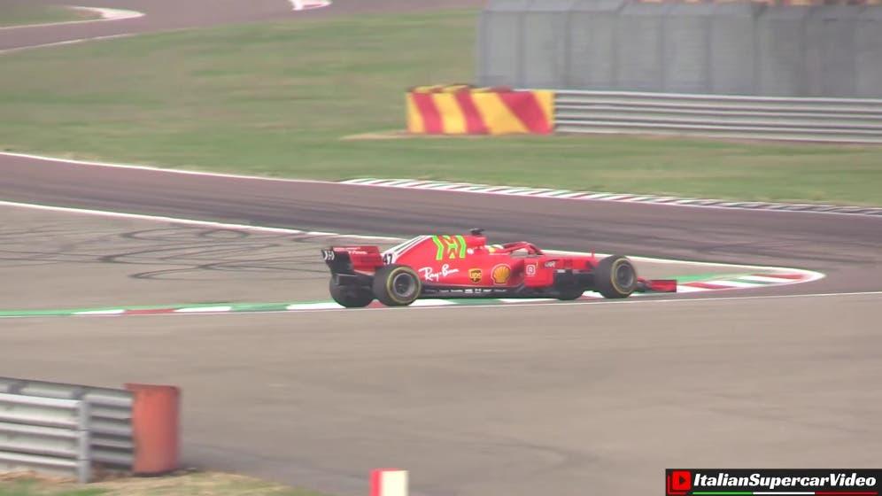 Mick Schumacher Ferrari SF71H 2018