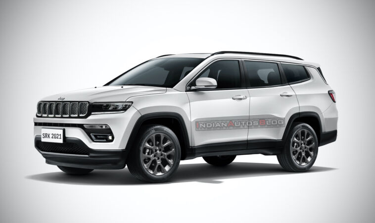 Nuova Jeep Compass a sette posti render