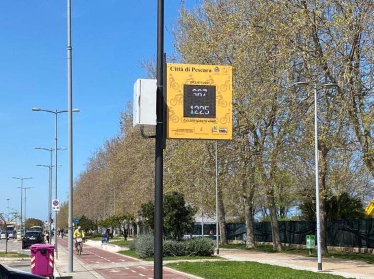 Piste ciclabili con display idea a Pescara