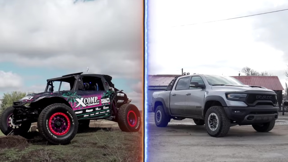 Ram 1500 TRX vs Volkswagen Buggy sovralimentato drag race