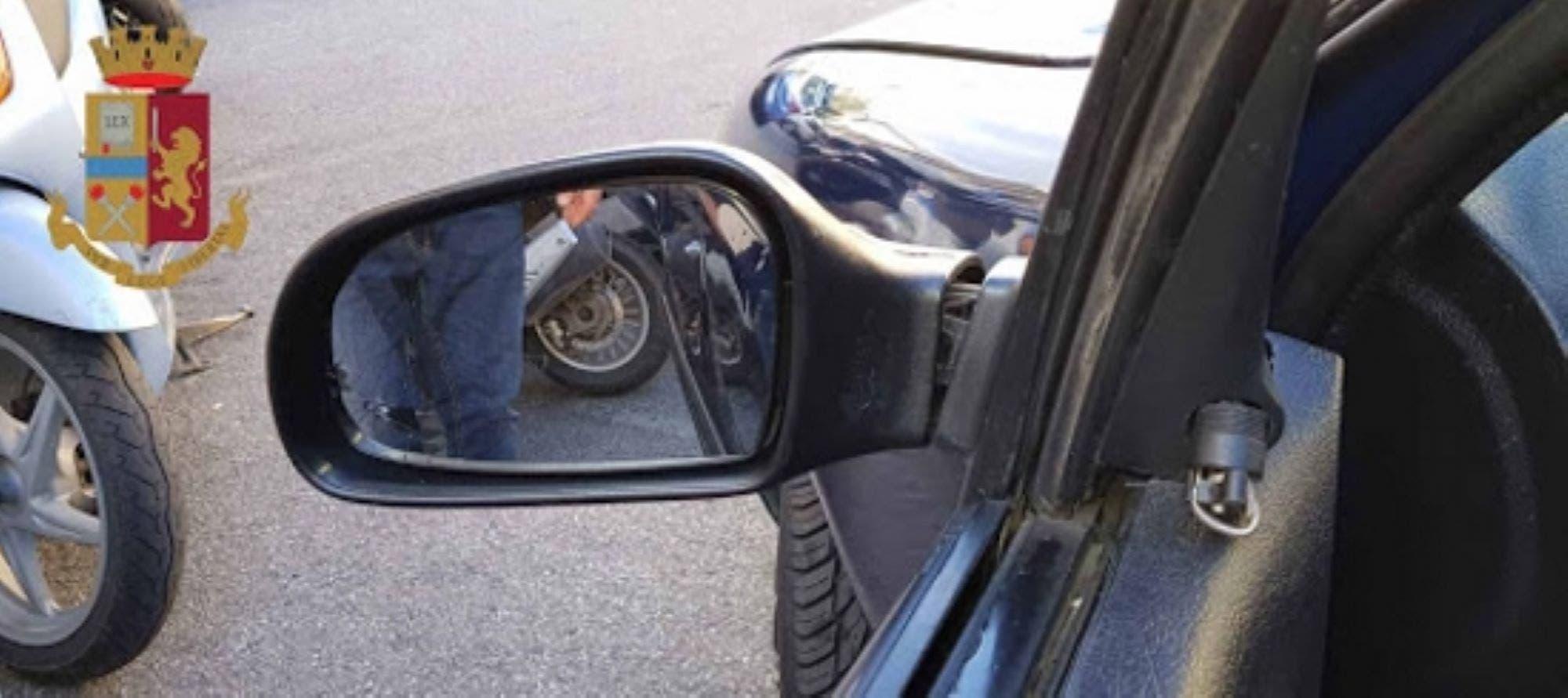 Truffa Rc auto dello specchietto