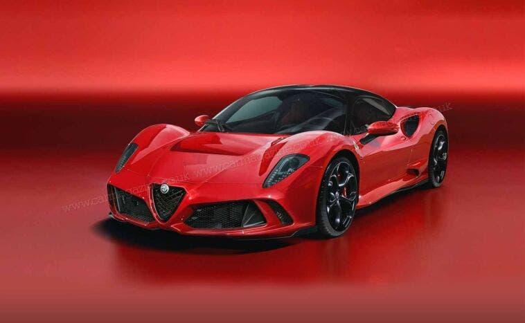 Alfa Romeo 8C 2021 Render Rosso
