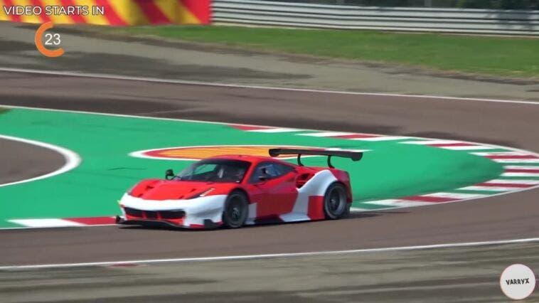 Ferrari 488 GTE prototipo Fiorano