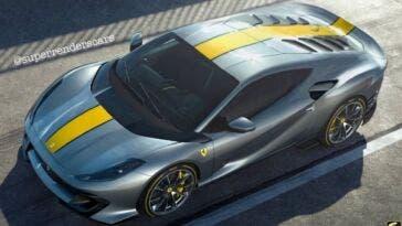 Ferrari 812 Competizione motore centrale render