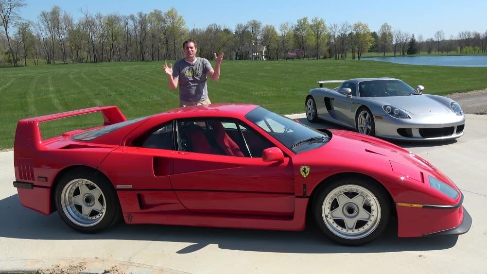 Ferrari F40 vs Porsche Carrera GT Doug DeMuro