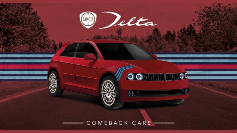 Lancia Delta WRC render
