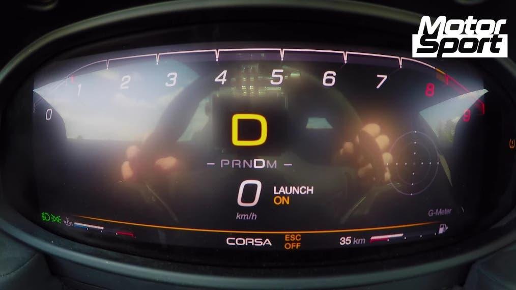 Maserati MC20 test accelerazione