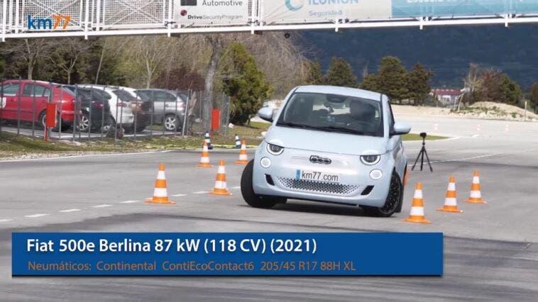Nuova Fiat 500 Elettrica test alce