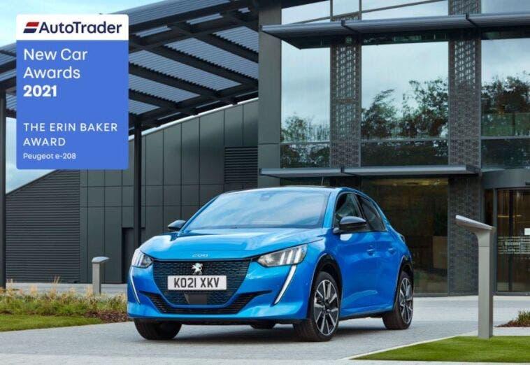 Peugeot e-208 premio Auto Trader