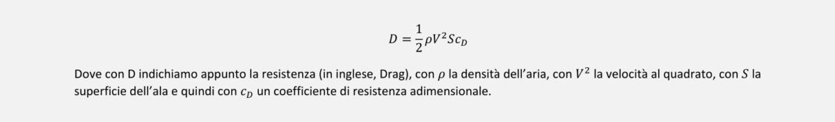 Equazione della Resistenza Aerodinamica