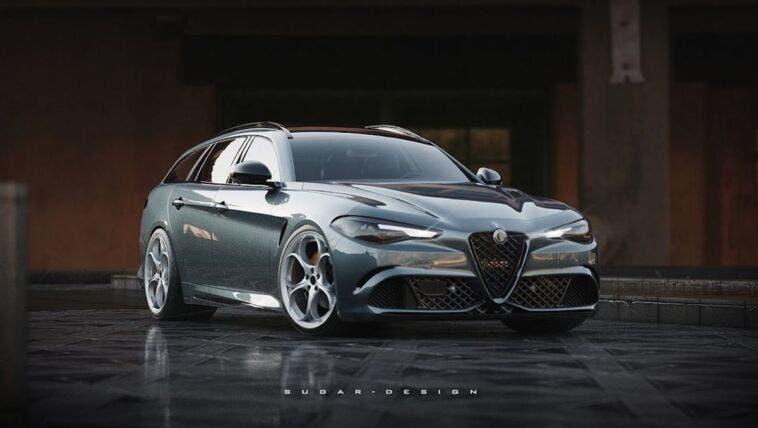 Alfa Romeo Giulia Wagon render