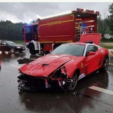 Ferrari 599 GTB 60F1 incidente