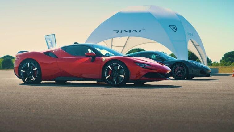 Ferrari SF90 Stradale vs Rimac Nevera drag race