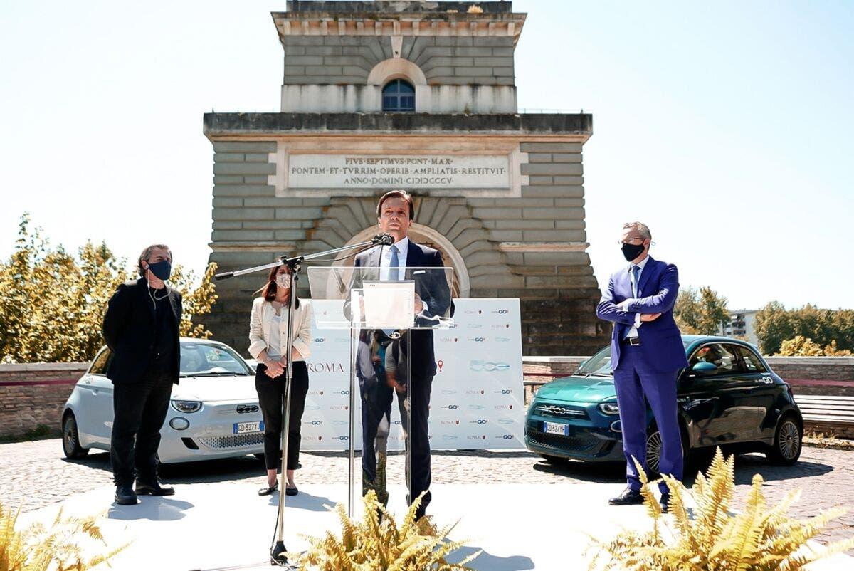 Nuova Fiat 500 Elettrica Roma LeasysGO!