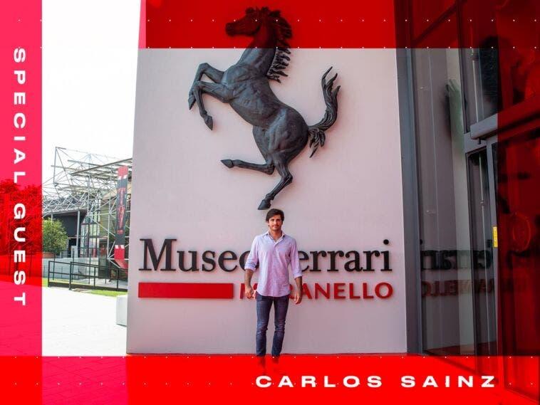Carlos Sainz Jr. al Museo ferrari