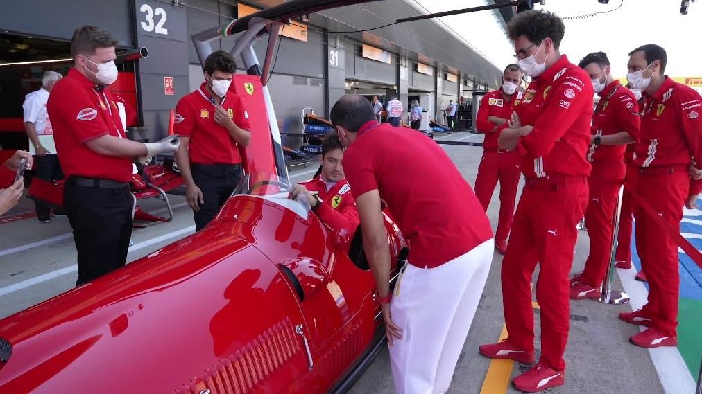 Charles Leclerc Ferrari 375 F1 Silverstone