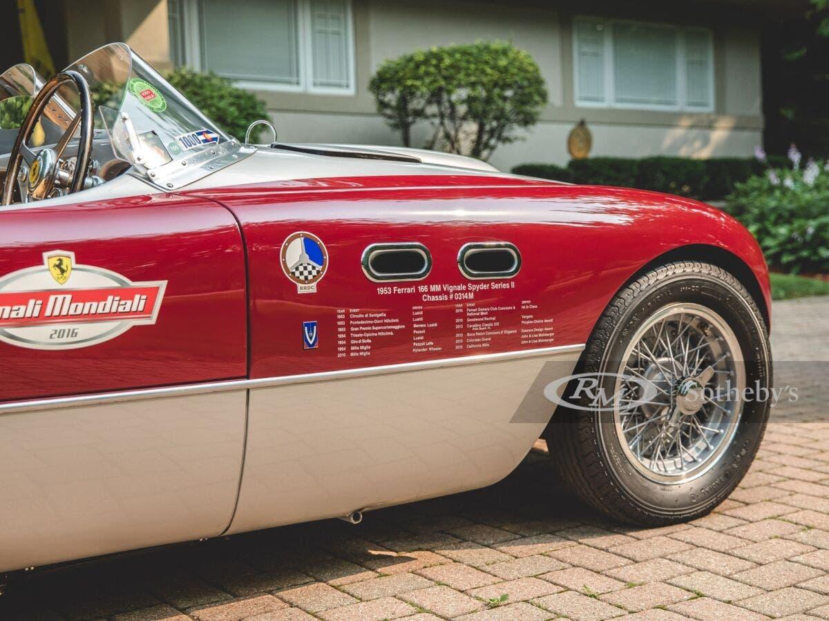 Ferrari 166 MM Spider Vignale 1953 asta