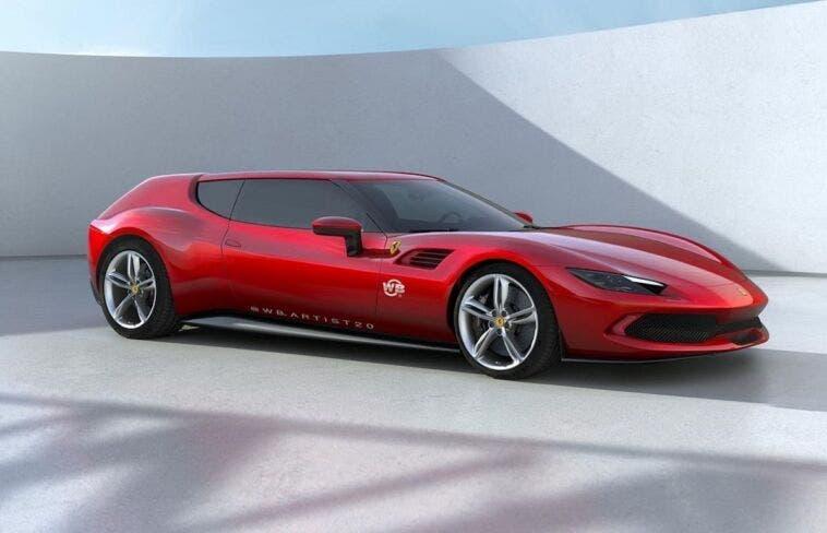 Ferrari 296 GTB Shooting Brake render