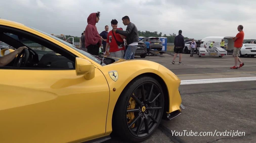 Ferrari 488 Pista drag race Germania
