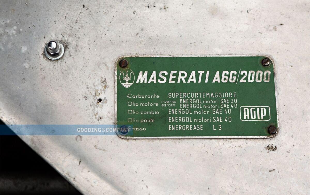 Maserati A6G/54 1956 asta