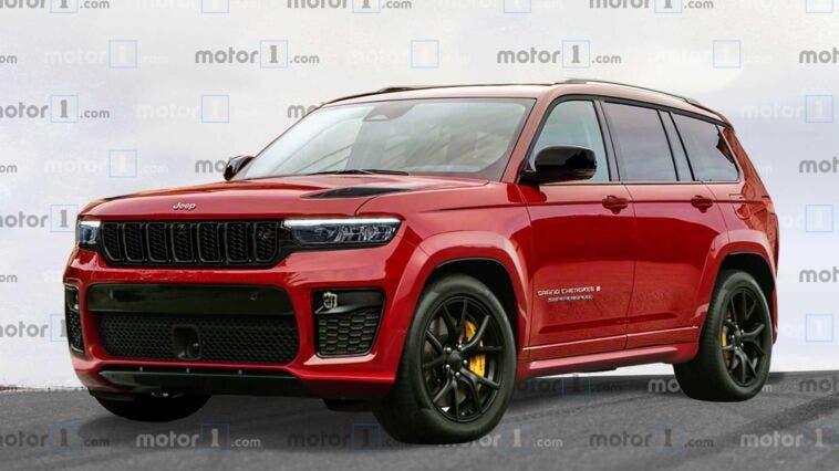 Nuova Jeep Grand Cherokee Trackhawk Motor1 render
