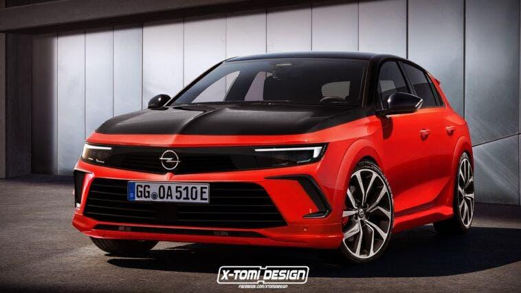 Nuova Opel Astra GSi render