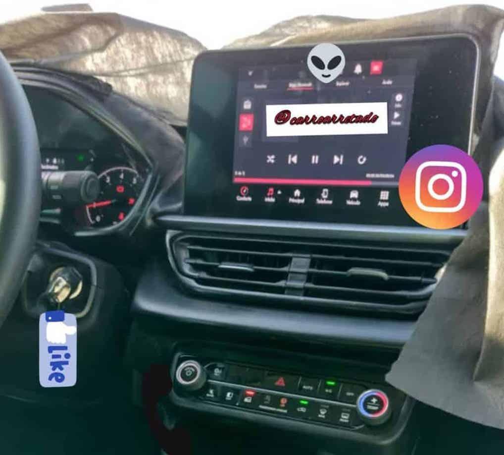 Nuovo Fiat Pulse interni foto spia