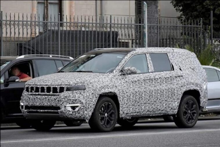Nuovo Jeep Meridian foto spia