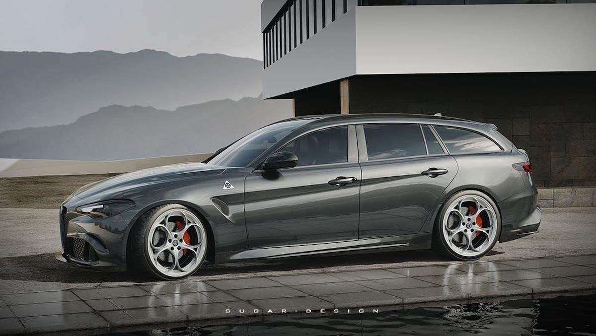 Alfa Romeo Giulia Wagon nuoiv render