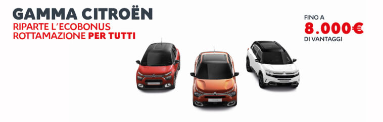 Citroën Ecobonus Rottamazione agosto